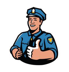 policeman in uniform law and order symbol vector image