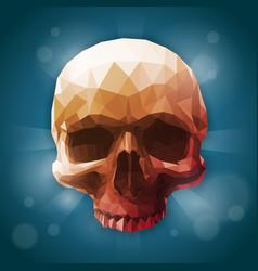 polygonal gradient realistic human skull vector image