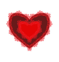red lacy heart for valentines day vector image