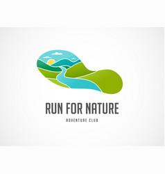 Run icon symbol marathon poster and logo vector