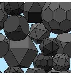 Seamless pattern 3d geometric shapes vector image