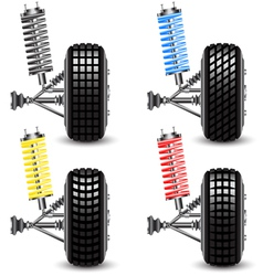 Set front car suspension vector