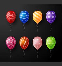set realistic ornate decorative colorful vector image