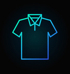T-shirt blue icon - outline tshirt sign vector
