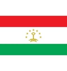 Tajikistan flag image vector image