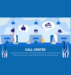 technical support customer service staff work vector image
