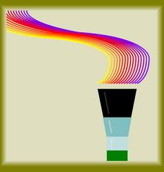 torch icon symbol logo template vector image