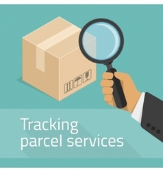 Tracking parcel services vector image