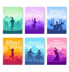 Traditional dances from all over the world vector