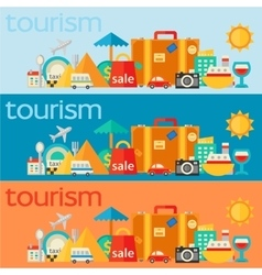 Travel concepts banners vector