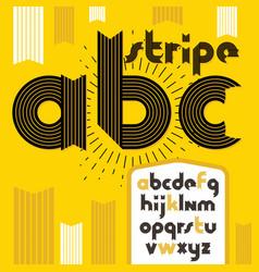 Trendy vintage lowercase english alphabet letters vector