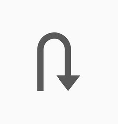 U-turn icon vector