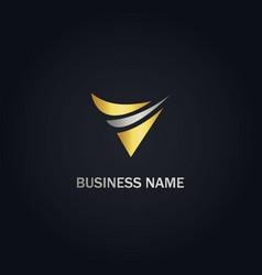 v abstract company logo vector image