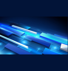 Virtual technology background abstract rectangles vector
