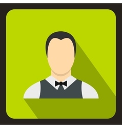 Waiter icon flat style vector image
