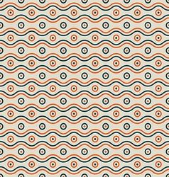 Waves and circles pattern vector image