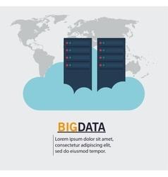 Web hosting and big data design vector