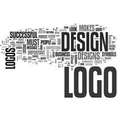 What makes a logo successful text word cloud vector
