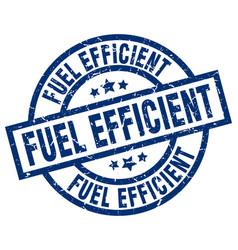 Fuel efficient blue round grunge stamp vector