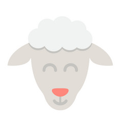 sheep flat icon easter and holiday lamb sign vector image