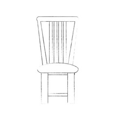 wooden chair isolated vector image