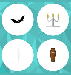 flat icon festival set of candlestick vector image vector image