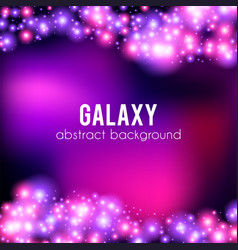 galaxy abstract background with sparkling pink vector image