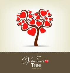 happy valentine day tree vector image vector image