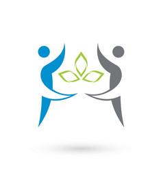 health community logo icon vector image