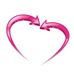 Two pink arrows vector image vector image