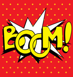 cartoon boom explosion vector image