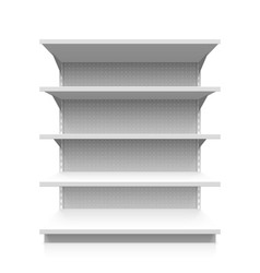 Empty supermarket shelf vector image vector image