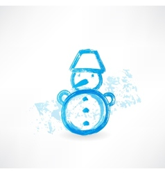 Little snowman grunge icon vector image