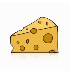 modern hands drawing cheese on white vector image vector image