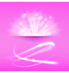 abstract light burst pink vector image