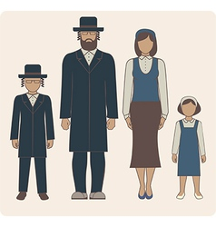 jewish family vector image vector image