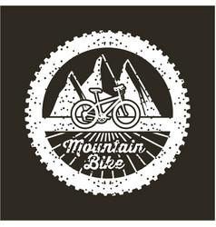 mountain bike banner vintage retro poster black vector image