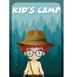A poster showing a kids camp vector