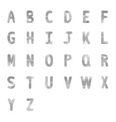 Abstract gray alphabets a to z 2 vector