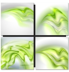 Abstract gray wave background vector image