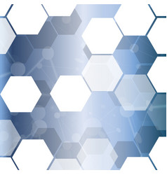 abstract hexagonal technology cell background vector image
