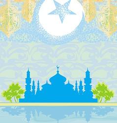 Abstract religious background - Ramadan Kareem vector