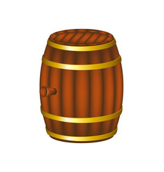 barrel in wooden design vector image