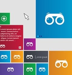 binoculars icon sign buttons Modern interface vector image