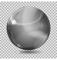 Black transparent glass sphere vector