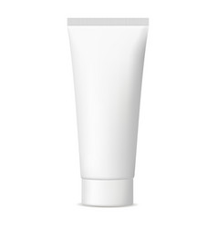 Blank cosmetic tube mock up isolated vector