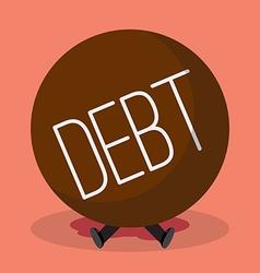 Businessman under heavy debt vector