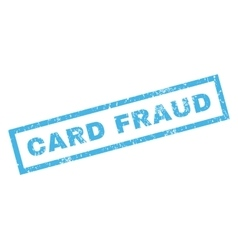 Card Fraud Rubber Stamp vector