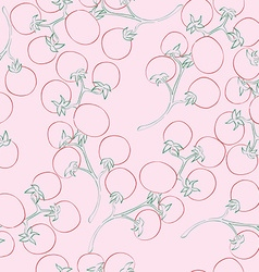Cherry tomatoes pattern vector