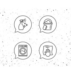 cleaning spray washing machine and housekeeping vector image